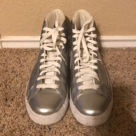 Nike Other - Silver Nike high tops